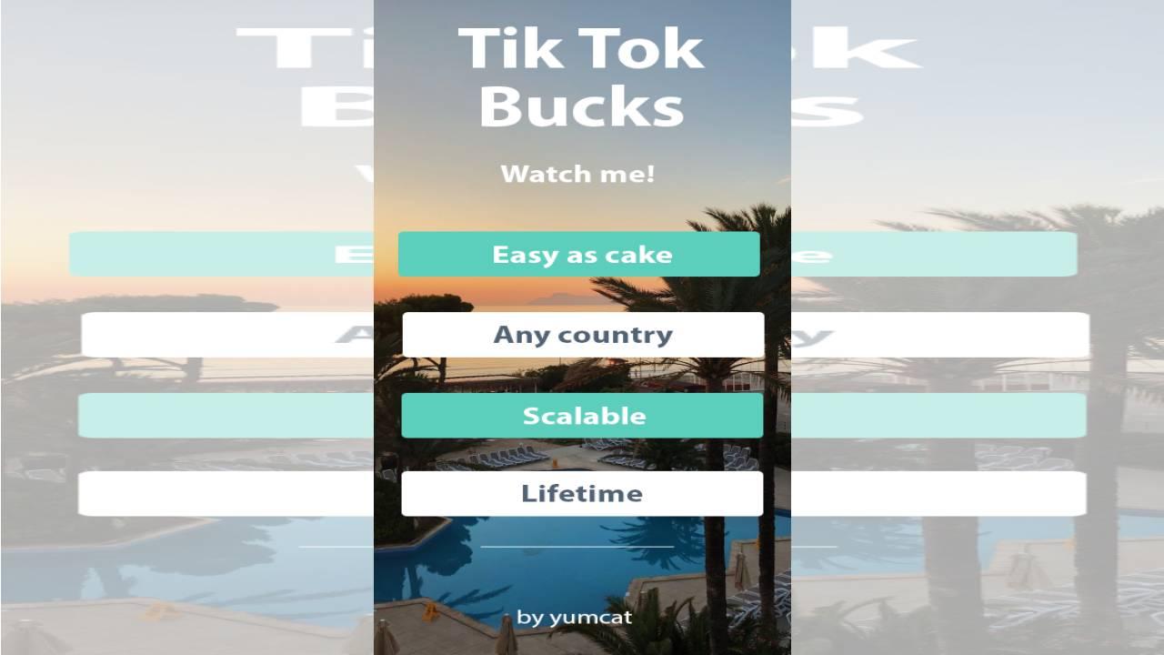 Tik Tok Bucks – Watch Me! $300 Daily with Unique Method (Ebook)