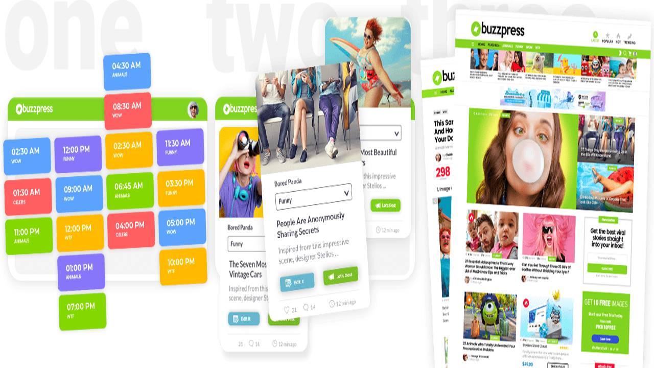 BuzzPress - Breakthrough Money-Making Site Builder Plug & Profit Viral Sites!