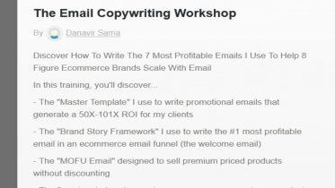 Danavir Sarria - Ecomm Email Workshop