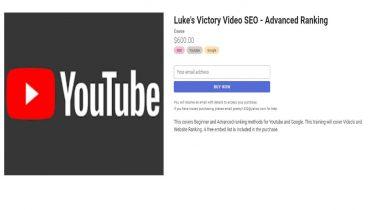 Holly Starks – Luke's Victory Video SEO - Advanced Ranking