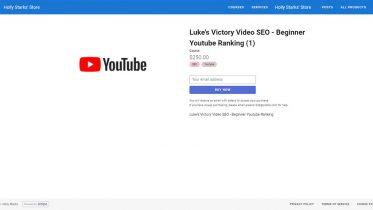 Luke's Victory Video SEO - Beginner Youtube Ranking